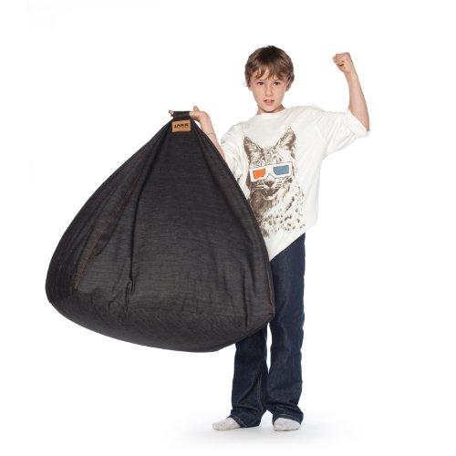 Jaxx Club 2.5 ft Foam Bean Bag Chair, Denim Club Chair Denim