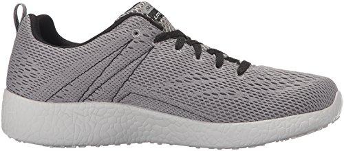 Skechers Burst-Second Wind, Zapatillas para Hombre Light Gray/Black