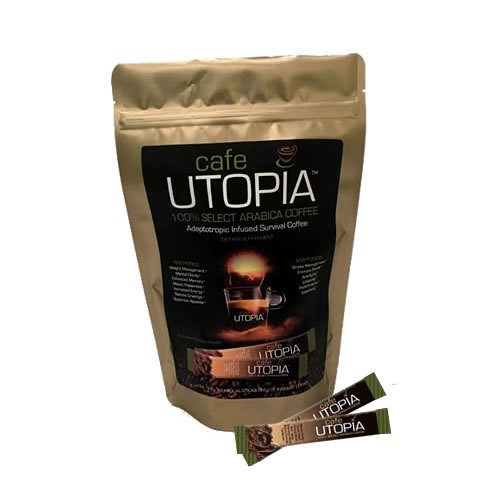 Cafe UTOPIA Stick Packs - Natural Weight Loss - Dietary Supplement - Non-GMO - Boost Metabolism - Essential Vitamins