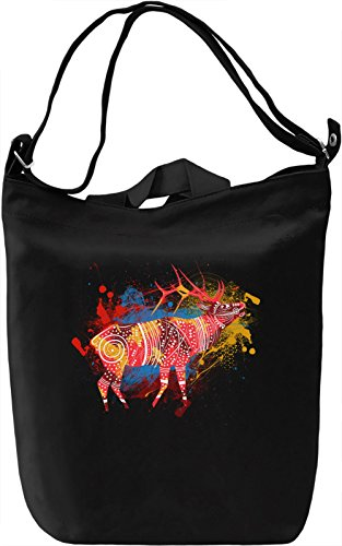 Stag Borsa Giornaliera Canvas Canvas Day Bag| 100% Premium Cotton Canvas| DTG Printing|