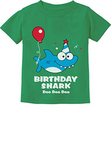 Tstars - Birthday Shark Doo doo Song Funny Gift Toddler Kids T-Shirt 3T Green -