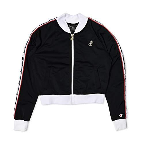 Jacket Crew Track (Champion LIFE Women's Track Jacket, Black/White/red Spark XL)
