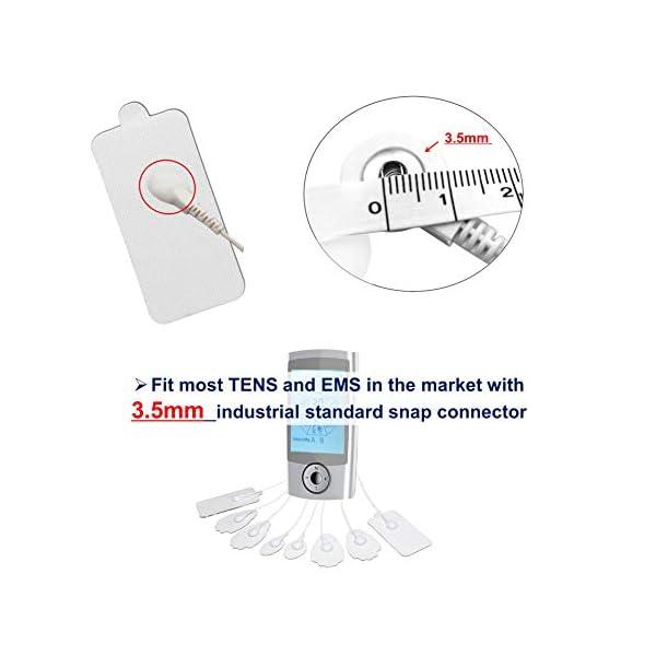 LiteTour 10 Pezzi Elettrodi Elettrostimolatore Adesivi Elettrodi per Elettrostimolatore Portatile Gel Pad Elettrodi a Bottone Elettrostimolatore Laica 3,5 Elettrodi Stimolatore Muscolare Universali 5 spesavip