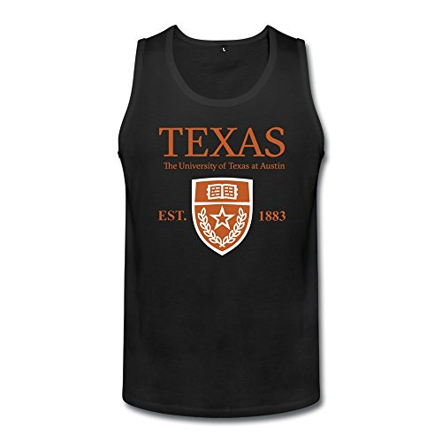 JIALE Men's University Of Texas At Austin Established 1883 Tank Large Black ()