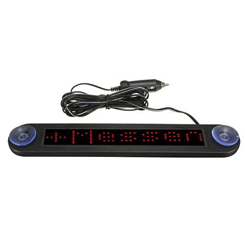 - Scrolling Display Board - TOOGOO(R) 12V LED Car Programmable Message Sign Moving Scrolling Display Board W/ remote Red