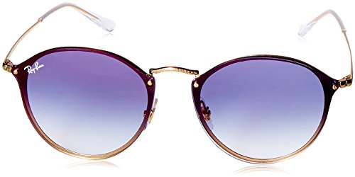 Lunettes de Soleil Ray-Ban BLAZE ROUND RB 3574N GOLD/BLUE SHADED unisexe