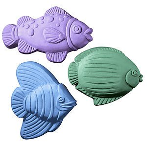 (Milky Way 3 Saltwater Fish Soap Mold - Melt and Pour - Cold Process - Clear PVC - Not Silicone - MW 39 )