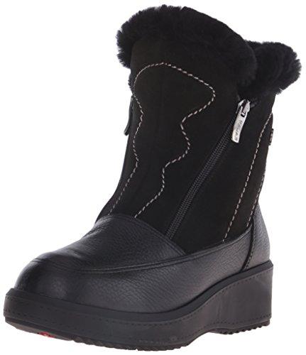 Pajar Womens Mia A Boot Bison Zwart / Suede Zwart