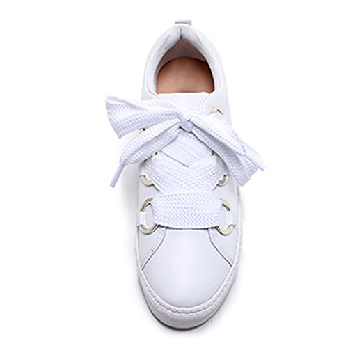 Verano De Pu Transpirable Mujer Plana Cabeza Redonda Cómodo Blancos Blanco Zapatos Nan Talón n6BIAqpBf