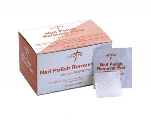 Medline Non-acetone Nail Polish Remover Pads - Pads Care Remover Polish Nail
