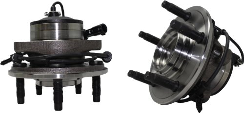 Brand New (Both) Front Wheel Hub and Bearing Assembly for 2003-04 Jaguar S-Type 5 Lug W/ABS (Pair) 513168 x 2 by Detroit Axle