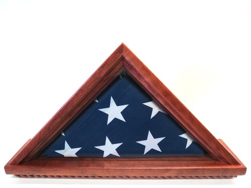 Military (5x9) Burial / Memorial Flag Case (Solid Cherry Wood)