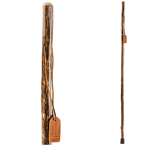 Trekking Pole Hiking Stick for Men and Women Handcrafted of Lightweight Wood and made in the USA,  Ironwood,  55 Inches ()