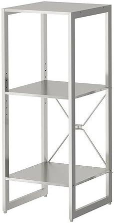 IKEA LIMHAMN - Estantería de acero inoxidable - 89x35x35 cm ...