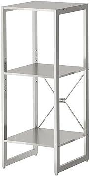 IKEA LIMHAMN - Estantería de acero inoxidable - 89x35x35 cm: Amazon.es: Hogar