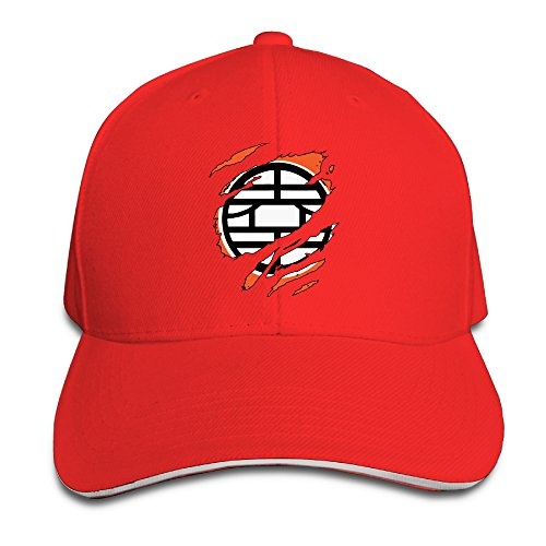 k-fly2-unisex-adjustable-dragon-ball-z-baseball-caps-hat-one-size-red