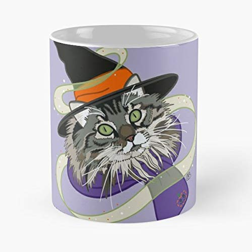 Codee Bradley Young Willow Youngwillowcreations Witchy Witch - 11 Oz Coffee Mugs Unique Ceramic Novelty Cup, The Best Gift For Halloween.