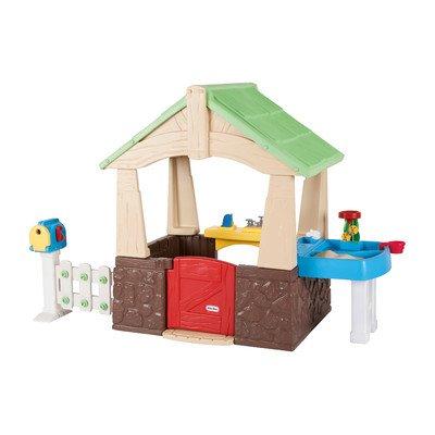Children Playhouse Plastic Kids Outdoor Garden Backyard Log Cabin Fort Cottage by Living Better Now