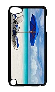 Ipod 5 Case,MOKSHOP Cute Chilling at Beach Hard Case Protective Shell Cell Phone Cover For Ipod 5 - PC Black by lolosakes by lolosakes