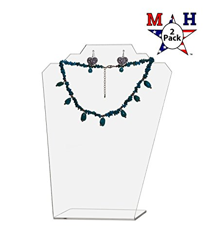 Marketing Holders Clear Necklace Display Easel 11.5'' H (Clear, 2) by Marketing Holders