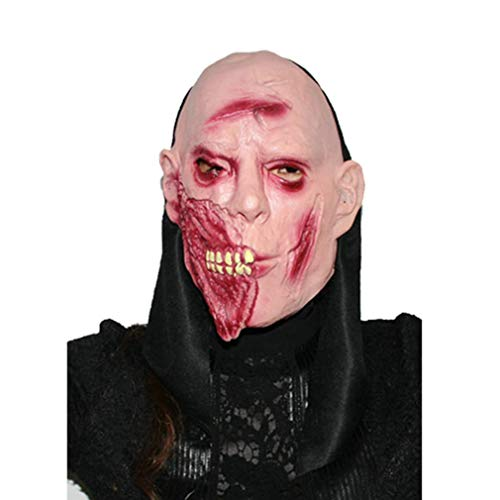 Gbell Halloween Costume Party Props Terror Zombie Ghost Mask, Cosplay Party Dress up Mask Teens Adults Men,1Pcs -