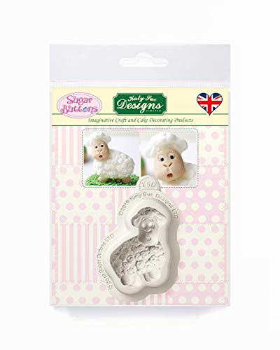 Sugar Buttons Little Lamb Silicone Mould for Clay, Ceramics, Cake Decorating, Cupcakes, Crafts, Cards and Candies, Food Safe