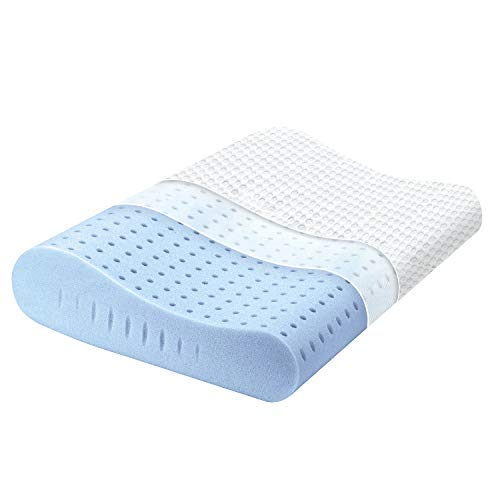 Milemont Memory Foam Pillow, Cervical Pillow for Neck Pain, Orthopedic Contour Pillow Support for Back, Stomach, Side Sleepers, Pillow for Sleeping, CertiPUR-US, Standard - Foam Size Queen Pillow Memory