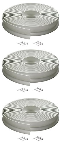 M-D Building Products 3822 Vinyl Garage Door Top and Sides Seal, 30 Feet, White (3 PACK) by M-D Building Products