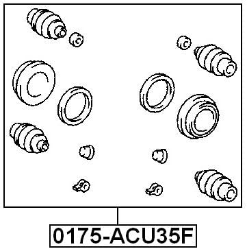 Replacement Parts Cylinder Kit For Toyota 447948040 Febest ...