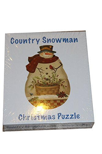 Current Magazine Country Snowman Christmas Puzzle by Artist Angela Anderson - 1000 Pieces