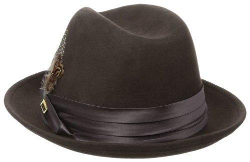 Stacy-Adams-Mens-Crushable-Wool-Felt-Snap-Brim-Fedora-Hat