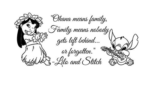 Cita de la familia Ohana Ohana Nursery Inspirado Tatuajes de pared ...