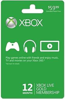 Amazon.com: Microsoft Xbox LIVE 12 meses Gold Membership ...
