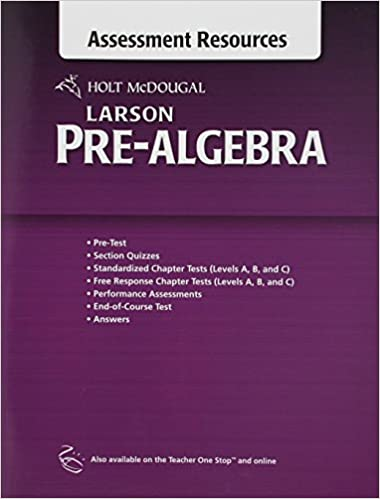 Amazon holt mcdougal larson pre algebra common core assessment holt mcdougal larson pre algebra common core assessment resources with answers 1st edition fandeluxe Image collections