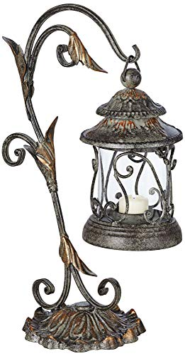 Scroll Candle Lantern - Kensington Hill Leaf and Vine 17 1/2