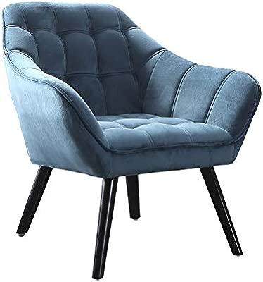 Adec - Olden, Sofa Individual de una Plaza, Sillon Descanso una 1 Persona, butaca Acabado Tejido Color Verde Aguamarina, Patas Negras, Medidas: 83 cm ...