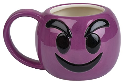 Emoji Coffee Cups-Free KCup of Gourmet Coffee-12 oz Emoji Coffee Mugs Great for Hot Cocoa, Soup or as a Candy Jar-Totally Unique Gift Idea (Little Purple -