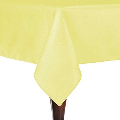 - Ultimate Textile -2 Pack- Reversible Shantung Satin - Majestic 60 x 120-Inch Rectangular Tablecloth, Cornsilk Light Yellow