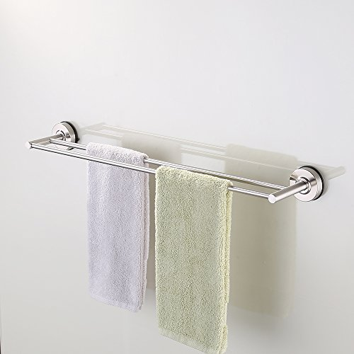 KES Suction Cup Double Towel Bar SUS 304 Stainless Steel ...
