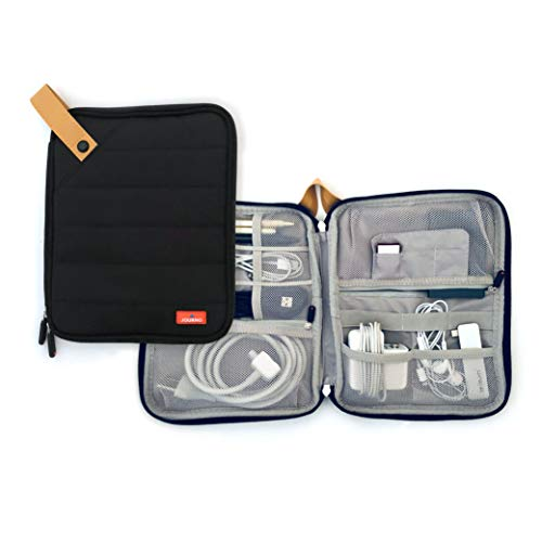 Travel Cord Case Organizer For All Your Electronic Tech Gadgets - Cables, Accessories, Phones, Tablets, Hard Drives, Chargers, USB, Memory Cards & More