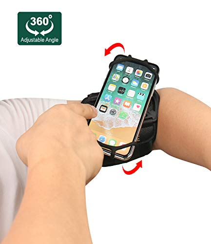 IRUNME Running Armband for iPhone X/iPhone 8/7 Plus/ 6 Plus/ 6, Galaxy S8/ S8 Plus/ S7 Edge, Google Pixel 2/3, 360° Rotatable with Key Holder, Phone Armband for Hiking Biking Walking - Black (Iphone 5s Not Turning On Black Screen)
