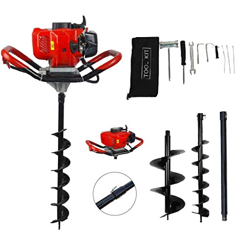 ECO-WORTHY 52CC Gas Powered Post Hole Digger with 6