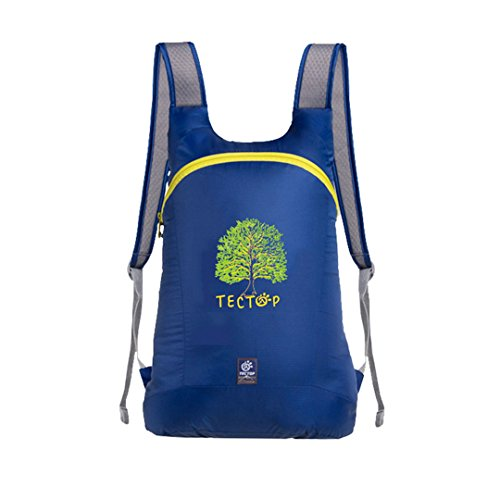 AiSi® Outdoor Hiking Climbing Clycling Nylon Backpack Daypacks Waterproof Casual Mountaineering Backpack(Cobalt blue)