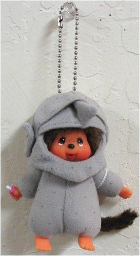 Monchichi Costume (Monchhichi World Costume Rock Island Keychain Plush Doll)