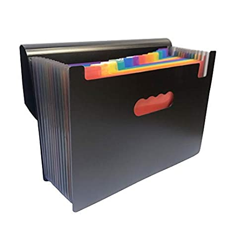 YEBMoo - Carpeta organizadora de archivos expandible de 13 bolsillos tamaño A4 organizador de archivos expansible: Amazon.es: Oficina y papelería