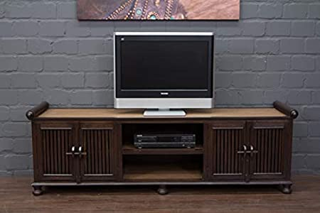 Buddha Art Lounge TV - Mueble bajo, madera maciza, estilo asiático ...