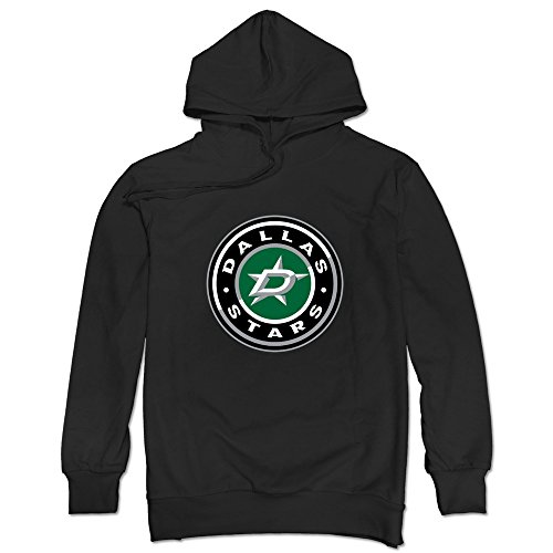 - JUST Men's Dallas Stars Secondary Logo Shoulder Patch Sweatshirts Black