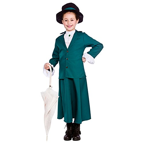 [Girls Victorian Nanny Fancy Dress Up Party Costume Halloween Child Mary Outfit] (Mary Poppins Costume Child)