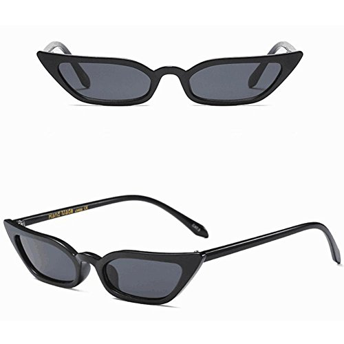 Fossen de de Ojo negro Mujer Gafas Sol Pequeña gato Frame Gafas rqrX4