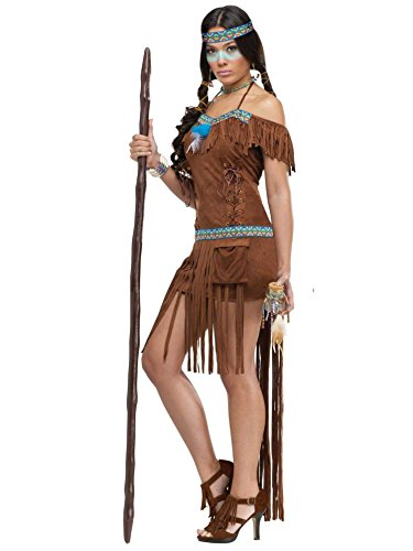 [FunWorld Medicine Woman, Brown, 10-14 Medium/Large Costume] (Indian Costumes For Women)
